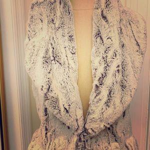 Bohemian Fur Vest with Shawl Collar